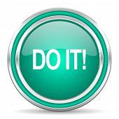 do it green glossy web icon