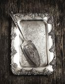 Antique Tray And Blade For Cake