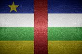 Closeup Center Of African Flag Concept On Pvc Leather For Background