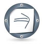 Dark Abstract Icon With Paper And Arrow