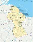 Guyana Political Map