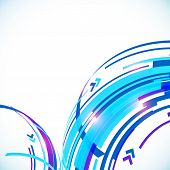 Blue abstract futuristic curve vector background