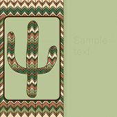 Background Pattern With Cactus. Use As Backdrop, Greeting Card