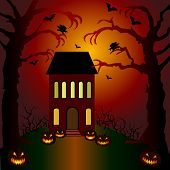 Helloween invitation and greeting card