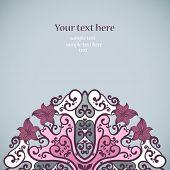 Elegant invitation card. Vector illustration