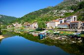 river and Crnojevica Village, Montenegro