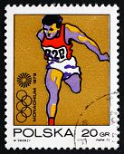 Postage Stamp Poland 1972 Olympic Runner