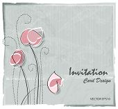 Flower card - soft floral background - retro style