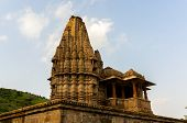 stock photo of lord krishna  - Ancient indian temple dedicated to the the Lord Krishna - JPG