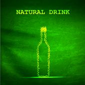 Bottle abstract design background, easy all editable