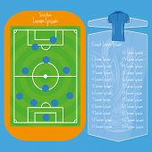 Vector Soccer Field Editable With Space For Text