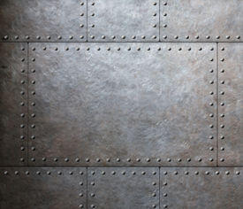 stock photo of ironclad  - metal armor plates background - JPG