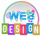 Web Design Circle Stripe Colorful