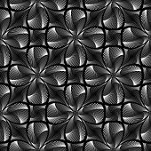 Design Seamless Monochrome Decorative Twirl Background