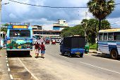 the bus station in Galle