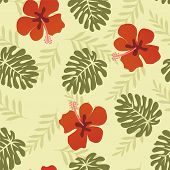 Hawaiian Pattern Tropical Leaves - Illustration
