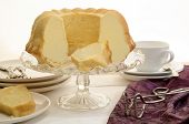 Vanilla Gugelhupf On A Glass Cake Stand