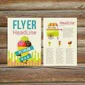 Abstract  Brochure Flyer design vector template. stylish ice cream