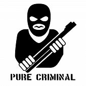 foto of guns  - Criminal person logo - JPG