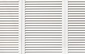 white metal window shutter background and texture