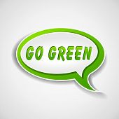 Go Green Speech Bubble