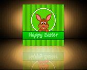 Easter bunny wishing happy easter