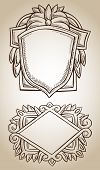 Border Frame Engraving Ornament
