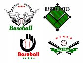 Baseball emblems and badges for sporting design