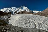 foto of shan  - Picturesque view of glacier and highest peaks in Tien - JPG