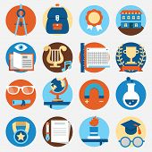 Set Of Education Icons For Design