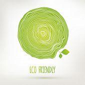 Green Eco Friendly Hand Drawing Emblem