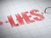 stock photo of lie  - Concept of lies - JPG