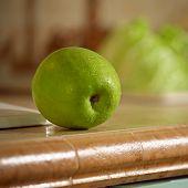 Apple On Worktop