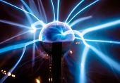 Electric blue light