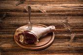 Raw turkey drumstick