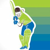 foto of cricket  - creative cricket player pose banner design vector - JPG