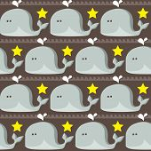 Funny whales pattern