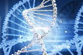 Background high tech image of dna molecule