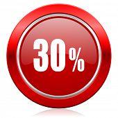30 percent icon sale sign