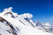 Grand Motte glacier in summer.