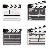 Cinema Clapboard Vector Icons
