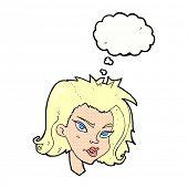 cartoon blond woman
