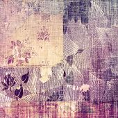 Grunge texture, distressed background. With different color patterns: purple (violet); yellow (beige); brown