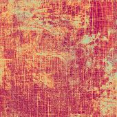 Grunge texture, distressed background. With different color patterns: purple (violet); yellow (beige); red (orange); pink
