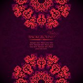 Elegant mandala indian invitation template