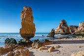 The Original Stone Mountain On The Beach. Albufeira, Portugal.