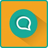 Flat Vector Speech Icon