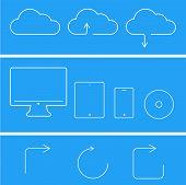 vector modern flat technology icons set