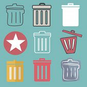 Unwanted Data Computer Clear Trash Waste Icon Concept