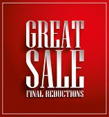 Great Sale Vector Poster, 3D Paper Graphics